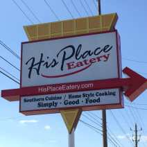 his place sign